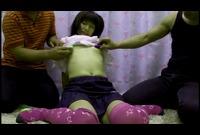 【童顔】○○生あんりちゃん☆めちゃ可愛いニーハイ美●女!貧乳とオマ●コにおもちゃ責めで感じてる☆